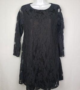 Show Me Your Mumu Black Lace Mini Tunic Dress